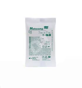 Kompresy z gazy 17 nitkowej Matocomp jałowe 8 warstwowe 7x7cm 3szt.