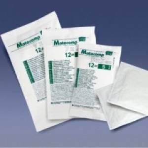 Kompresy z gazy 17 nitkowej Matocomp jałowe 12 warstwowe 9x9cm 5szt.