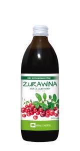 Sok z owoców żurawiny z dodatkiem witaminy C 500ml