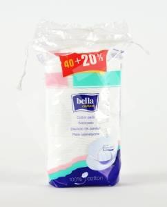 Płatki kosmetyczne owalne duże Bella Cotton 40 szt. (opakowanie wielojęzyczne)
