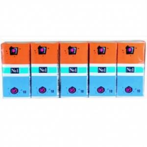 Chusteczki papierowe higieniczne Bella No1 z klipsem 10 szt. pakowane po 10 opakowań w zgrzewce.