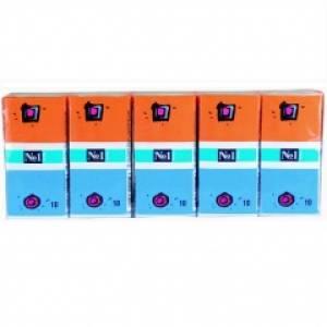 Chusteczki papierowe higieniczne Bella  z klipsem 10 szt. pakowane po 10 opakowań w zgrzewce Medica.