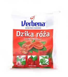 Cukierki ziołowe Verbena róża z witaminą C 60g