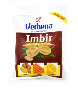 Cukierki ziołowe Verbena imbir z witaminą C 60g