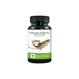 Fish-salmon oil tran z łososia 60 kapsułek